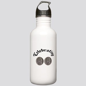 celebratingdoublenickle Water Bottle