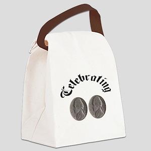 celebratingdoublenickle Canvas Lunch Bag