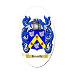 Hennelly Oval Car Magnet