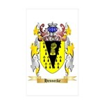 Hennecke Sticker (Rectangle 50 pk)
