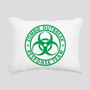 Zombie Outbreak Response Rectangular Canvas Pillow