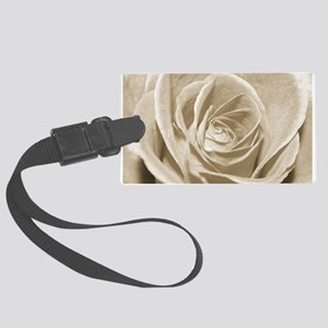 Sepia Rose Large Luggage Tag