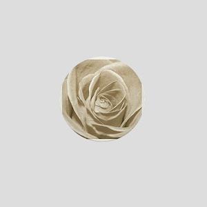 Sepia Rose Mini Button