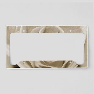 Sepia Rose License Plate Holder
