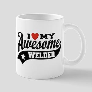 I Love My Awesome Welder Mug