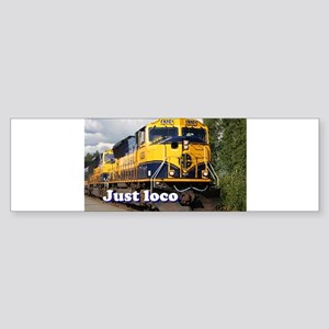 Just loco: Alaska locomotive Bumper Sticker