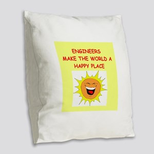 ENGINEERS Burlap Throw Pillow