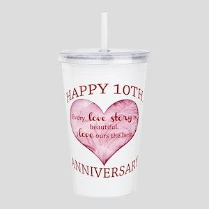 10th. Anniversary Acrylic Double-wall Tumbler