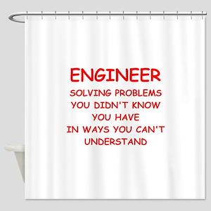 ENGINEER Shower Curtain