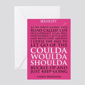 SATC Carrie Quote Greeting Card