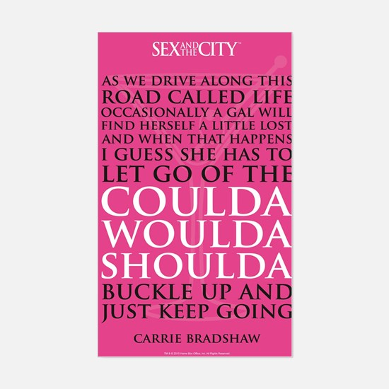 SATC Carrie Quote Sticker (Rectangle)