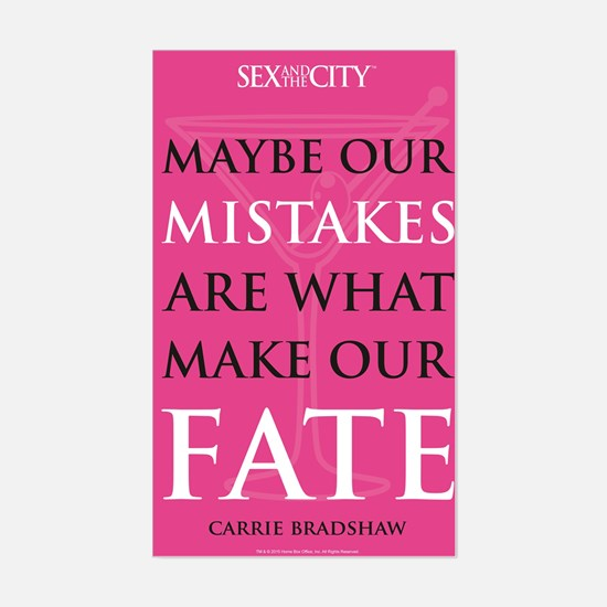 SATC Our Mistakes Quote Sticker (Rectangle)