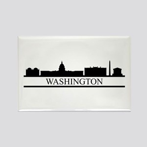 skyline washington Magnets
