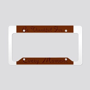 Be Thankful License Plate Holder