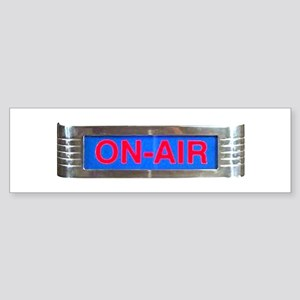 On-Air Broadcasting Sign Bumper Sticker