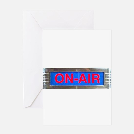 On-Air Broadcasting Sign Greeting Cards