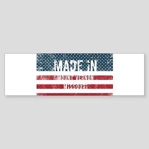 Made in Mount Vernon, Missouri Bumper Sticker