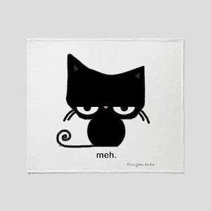 meh cat Throw Blanket