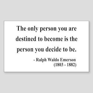 Ralph Waldo Emerson 2 Rectangle Sticker
