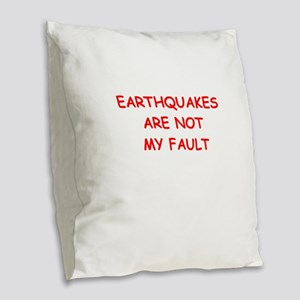 GEOLOGY Burlap Throw Pillow