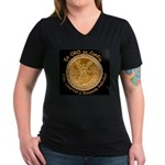Mex Oro Women's V-Neck Dark T-Shirt