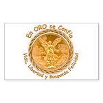 Mex Oro Rectangle Sticker