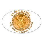 Mex Oro Oval Sticker