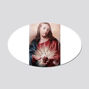 Jesus 20x12 Oval Wall Decal