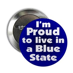 New York Blue State Button