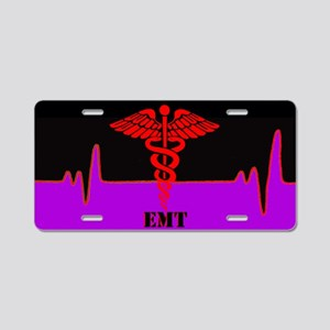 Emt Heart Beat Aluminum License Plate
