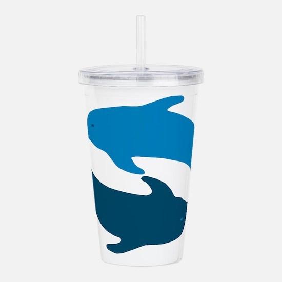 Blue Dolphin Duet Acrylic Double-wall Tumbler