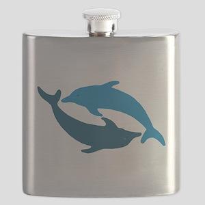 Blue Dolphin Duet Flask