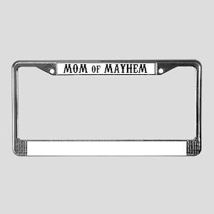 Mom of Mayhem License Plate Frame