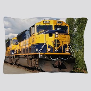Alaska Railroad engine locomotive Pillow Case
