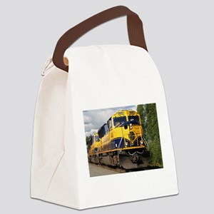 Alaska Railroad engine locomotive Canvas Lunch Bag