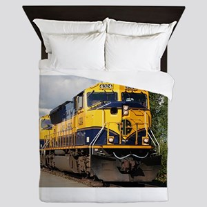 Alaska Railroad engine locomotive Queen Duvet