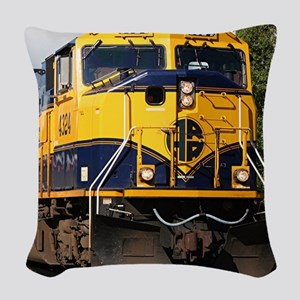 Alaska Railroad engine locomot Woven Throw Pillow