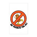 No Peanuts For Me! Rectangle Sticker