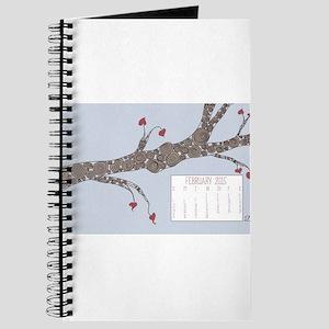 February 2015 Heart Leaves Tree Calendar Journal