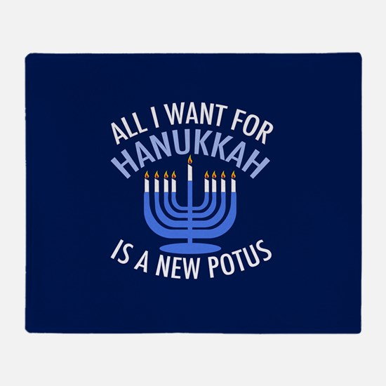 Hanukkah Anti Trump Throw Blanket