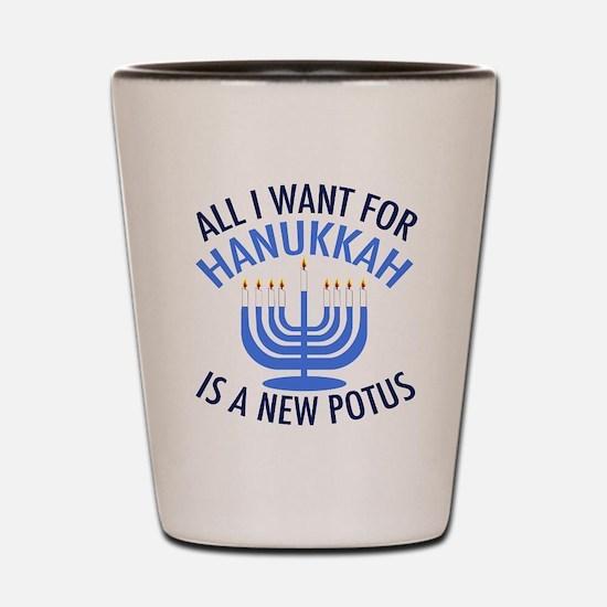 Hanukkah Anti Trump Shot Glass