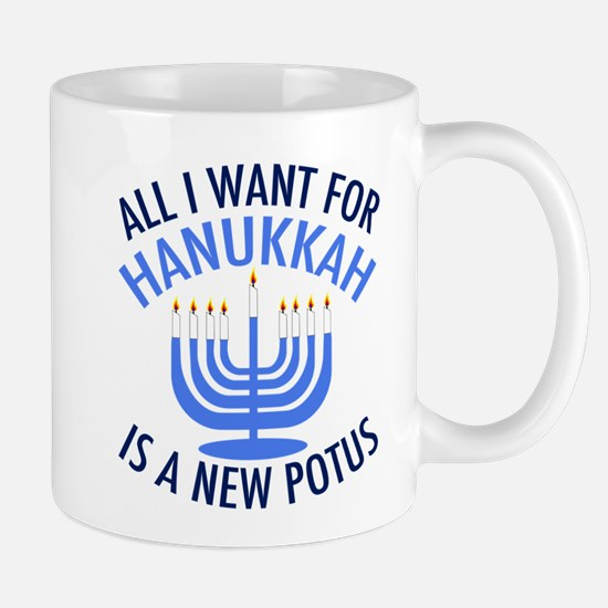 Hanukkah Anti Trump Mug