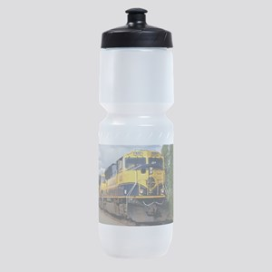 Alaska Railroad engine locomotive Sports Bottle