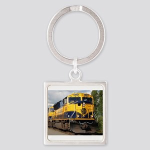 Alaska Railroad engine Keychains