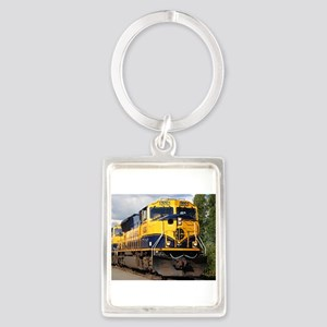 Alaska Railroad engine Keychains