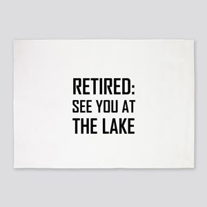 Retired See You At Lake 5'x7'Area Rug