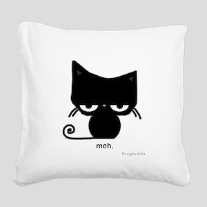 meh cat Square Canvas Pillow