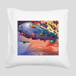 Castle Wulfenbach Color Square Canvas Pillow