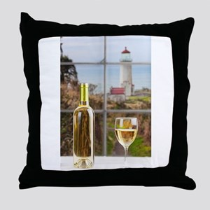 Wine at North Head Throw Pillow