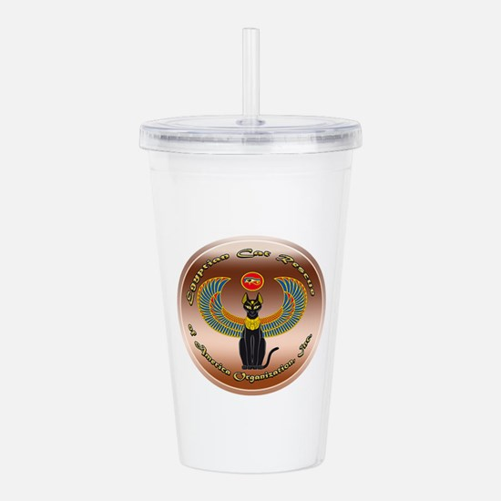 Egyptian Cat Rescue Or Acrylic Double-wall Tumbler